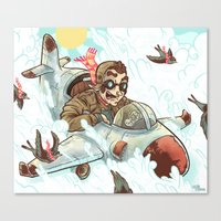 dad Canvas Prints featuring Dad  by Logan  Faerber