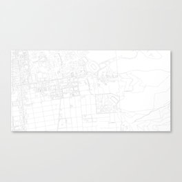 Abstract Map of UC Berkeley Campus Canvas Print