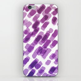 Purple Watercolor Brush Strokes Abdtraction iPhone Skin