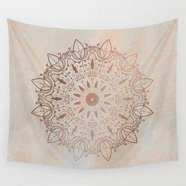 Peachy Mandala Wall Tapestry