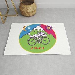 Albert Hofmann Bicycle Day LSD 1943 Circle Rug