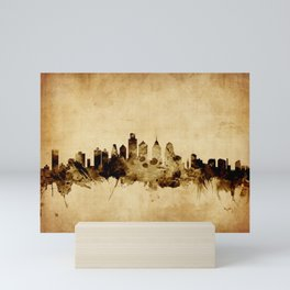 Philadelphia Pennsylvania Skyline Mini Art Print