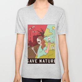 Save Nature spell Unisex V-Neck