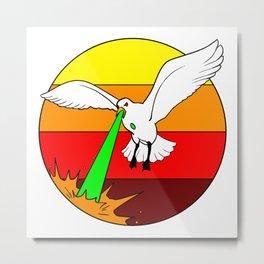 Laser Seagull Funny Retro Seagull Design Metal Print