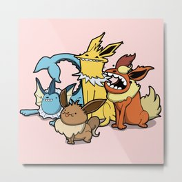 Pokémon - Number 133, 134, 135 and 136 Metal Print