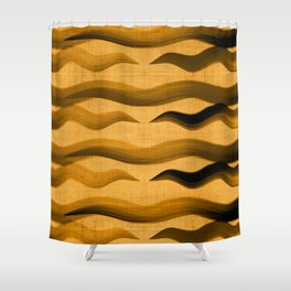 """Abstract Oriental Tiger"" Shower Curtain"