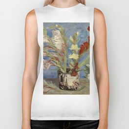 """Vincent Van Gogh """"Vase with Gladioli and Chinese Asters"""" Biker Tank"""