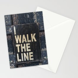 I Walk The Line Stationery Cards