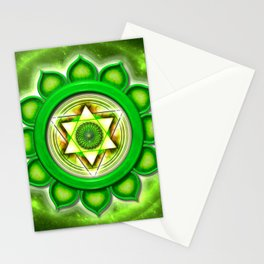 "Anahata Chakra - Heart Chakra - Series ""Open Chakra"" Stationery Cards"