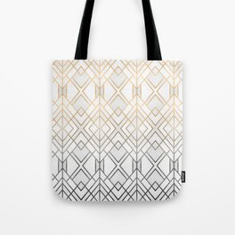 Gold And Grey Geo Tote Bag