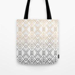 Gold And Grey Geo Tote Bag