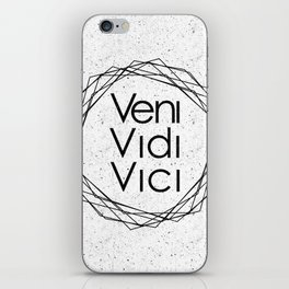 I Came I Saw I Conquered Veni Vidi Vici iPhone Skin