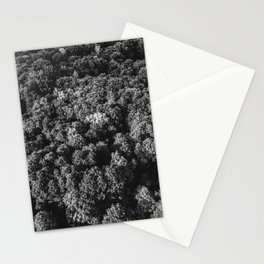 Forest overview in black and white Stationery Cards