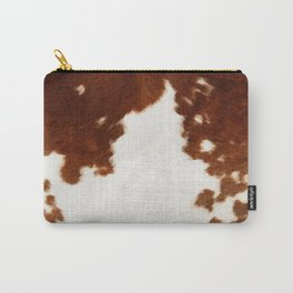 brown cowhide watercolor Carry-All Pouch