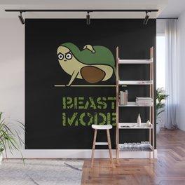 Beast Mode Avocado Wall Mural