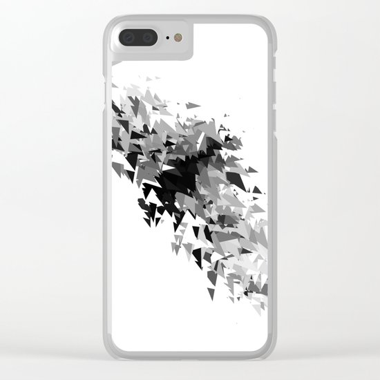 Triangles flow Clear iPhone Case