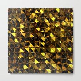 Golden Polygons 02 Metal Print
