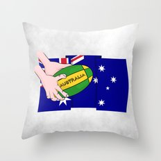 Australia Rugby Ball Throw Pillow
