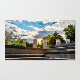 World War Memorial Annapolis Sunset Canvas Print