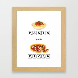 BTS JIN PASTA & PIZZA Framed Art Print