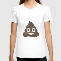 poop T-shirts featuring Whatsapp - Poop by swiftstore