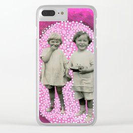 Little Gesture Clear iPhone Case