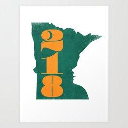 218: Minnesota Face Art Print