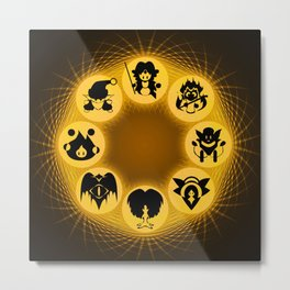 Mana: Magic Wheel Metal Print