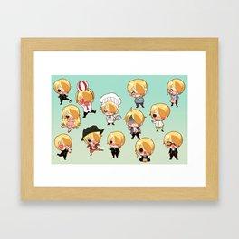 Sanji-kun Framed Art Print