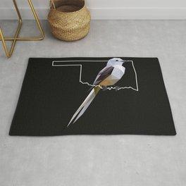 Oklahoma – Scissor-Tailed Flycatcher (Black) Rug