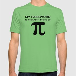 My password is the last 4 digits of PI T-shirt