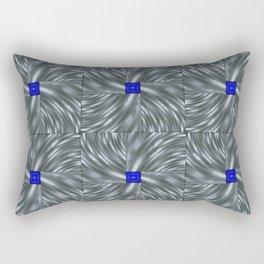 Making Waves Gray Rectangular Pillow
