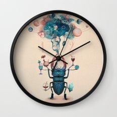 funny beetle Wall Clock