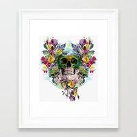 skulls Framed Art Prints featuring SKULLS by RIZA PEKER