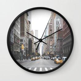 New York I Wall Clock