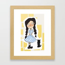 Dorothy and Toto Framed Art Print