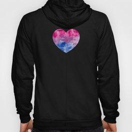 Gay Pride LGBT Bisexual Bi Painted Heart  design Hoody