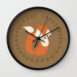 Renard roux // Red fox Wall Clock