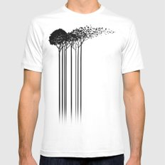 Aki White MEDIUM Mens Fitted Tee
