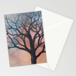 Tree on a beautiful January afternoon Stationery Cards