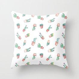 Cactus Succulent Garden Toss Throw Pillow