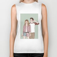 stiles Biker Tanks featuring Malia Tate/Stiles Stilinski by vulcains