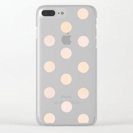 Rose Gold Glitz Clear iPhone Case