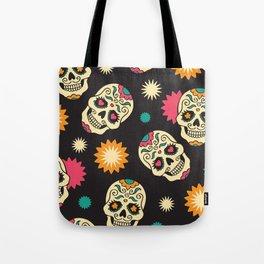 Hipster Skull - Hipster Skeleton - Funky Skull Pattern - Pattern Tote Bag