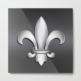 Fleur de Lis Heraldic Emblem Metal Print