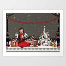Lily picnics Art Print