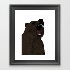 Hear my scream - Bear Framed Art Print