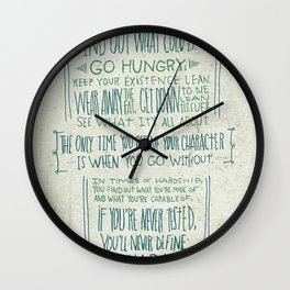 Henry Rollins Wall Clock
