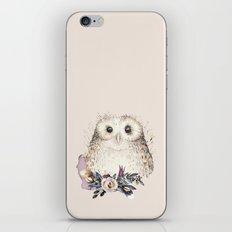 Boho Illustration- Be Wise Little Owl iPhone Skin