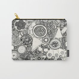 vegetarian party platter black Carry-All Pouch